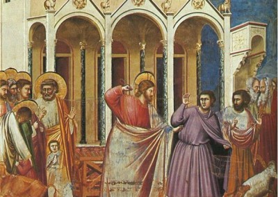 Expulsion of the Money Changers from the Temple by Giotto